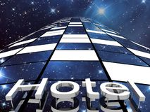 Hotel building, 3D images Stock Images