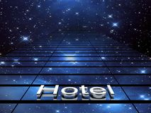 Hotel building, 3D images Royalty Free Stock Image
