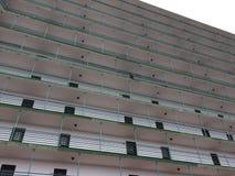 Hotel building exterior, apartment building facade Stock Image