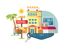 Hotel building five stars Royalty Free Stock Photo
