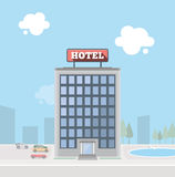 Hotel building Stock Images