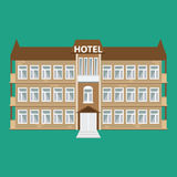 Hotel building icon. Illustrated vector  with flat color style. Royalty Free Stock Photos