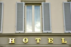Hotel building in Italy Stock Photography