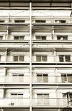 Hotel building with metal structure royalty free stock photography