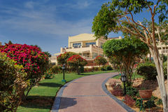 Hotel building park, Sharm el Sheikh, Egypt Royalty Free Stock Image