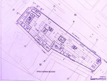 Hotel building plan Royalty Free Stock Photography