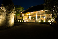 The hotel building at Thailand resort in the night Stock Photo