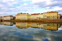 Hotel buildings in Florence city , Italy Stock Images