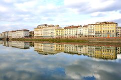 Hotel buildings in Florence, Italy royalty free stock photos