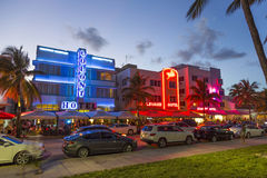 Hotel buildings in Miami's Art Deco District Stock Photo