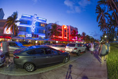 Hotel buildings in Miami's Art Deco District Royalty Free Stock Photo