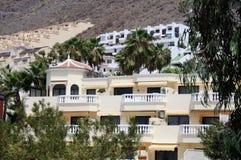Hotel buildings on Tenerife, Spain Royalty Free Stock Photos