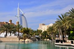 Hotel Burj al Arab in Dubai Stock Photography