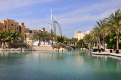 Hotel Burj al Arab in Dubai Stock Images
