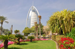 Hotel Burj al Arab in Dubai Royalty Free Stock Photography
