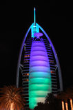 Hotel Burj Al Arab in Dubai Royalty Free Stock Photo