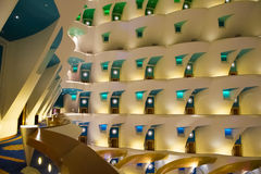 Hotel Burj Al Arab - interior Royalty Free Stock Photography