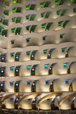Hotel Burj Al Araber, Dubai, nachts Lizenzfreies Stockbild