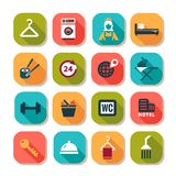 Hotel business icons Royalty Free Stock Images