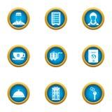 Hotel business icons set, flat style. Hotel business icons set. Flat set of 9 hotel business vector icons for web isolated on white background Royalty Free Stock Photo