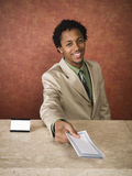 Hotel - business travelers Stock Images
