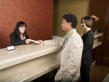 Hotel - business travelers Royalty Free Stock Images