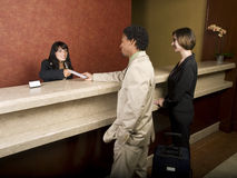 Hotel - business travelers Royalty Free Stock Image