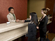 Hotel - business travelers Royalty Free Stock Photography
