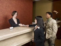 Hotel - business travelers Stock Photo