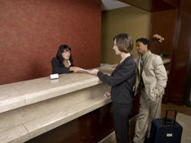 Hotel - business travelers Royalty Free Stock Photo