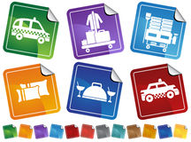 Hotel Button Set - sticker Royalty Free Stock Photo