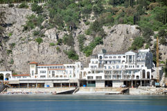 Free Hotel By The Sea Houses Hotels And Motels Near Coast Of Black In Ukraine Photo Was Taken Boat Into During Boat Ride Royalty Free Stock Photo - 31351655