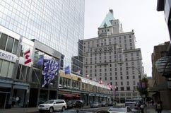 Hotel céntrico de Vancouver Imagen de archivo