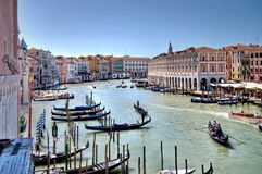 Hotel Ca' Sagredo - Grand Canal - Venice Italy Venezia - photo by gnuckx and HDR processing by Mike G. K. Stock Images