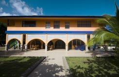 Hotel cabanas beach hammocks Corn Island Nicaragua Royalty Free Stock Image