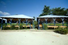Hotel cabanas beach hammocks Corn Island Nicaragua Stock Image