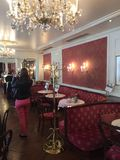 Hotel and cafe sacher Stock Image