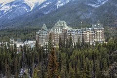 Hotel in the Canadian Rockies Stock Photos
