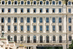 Hotel Capitol On Victory Avenue Royalty Free Stock Images