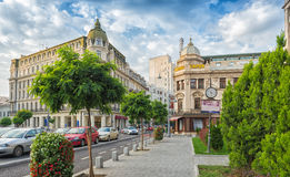 Hotel Capsa and Hotel Capitol on famous Victory Avenue (Calea Vi Stock Image