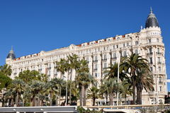 Hotel CARLTON, french riviera, Cannes Stock Images