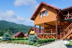 Hotel in Carpathian Mountains. Royalty Free Stock Image