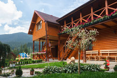 Hotel in Carpathian Mountains. Stock Photos