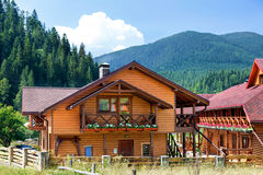 Hotel in Carpathian Mountains. Stock Images