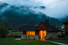 Hotel in Carpathian Mountains. Royalty Free Stock Photography