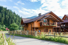Hotel in Carpathian Mountains. Stock Photography