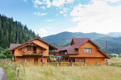 Hotel in Carpathian Mountains. Royalty Free Stock Images