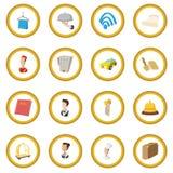 Hotel cartoon style icon circle. Cartoon isolated vector illustration Royalty Free Stock Photo