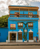 Hotel-Casa Isabellfarbe in Cartagena, Kolumbien Lizenzfreies Stockbild