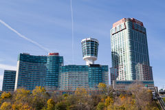 Hotel in cascate del Niagara Immagine Stock